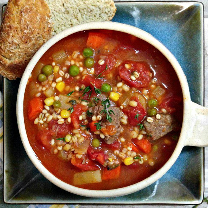 Beef Barley Vegetable Soup  Ve able Beef Barley Soup Slow Cooker Hearty Winter