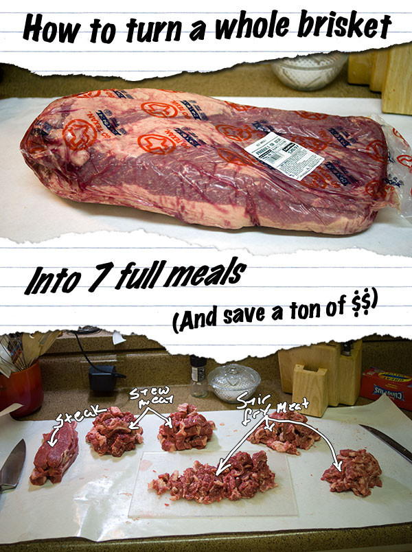 Beef Brisket Price  How To Turn a Whole Beef Brisket into 7 full meals and