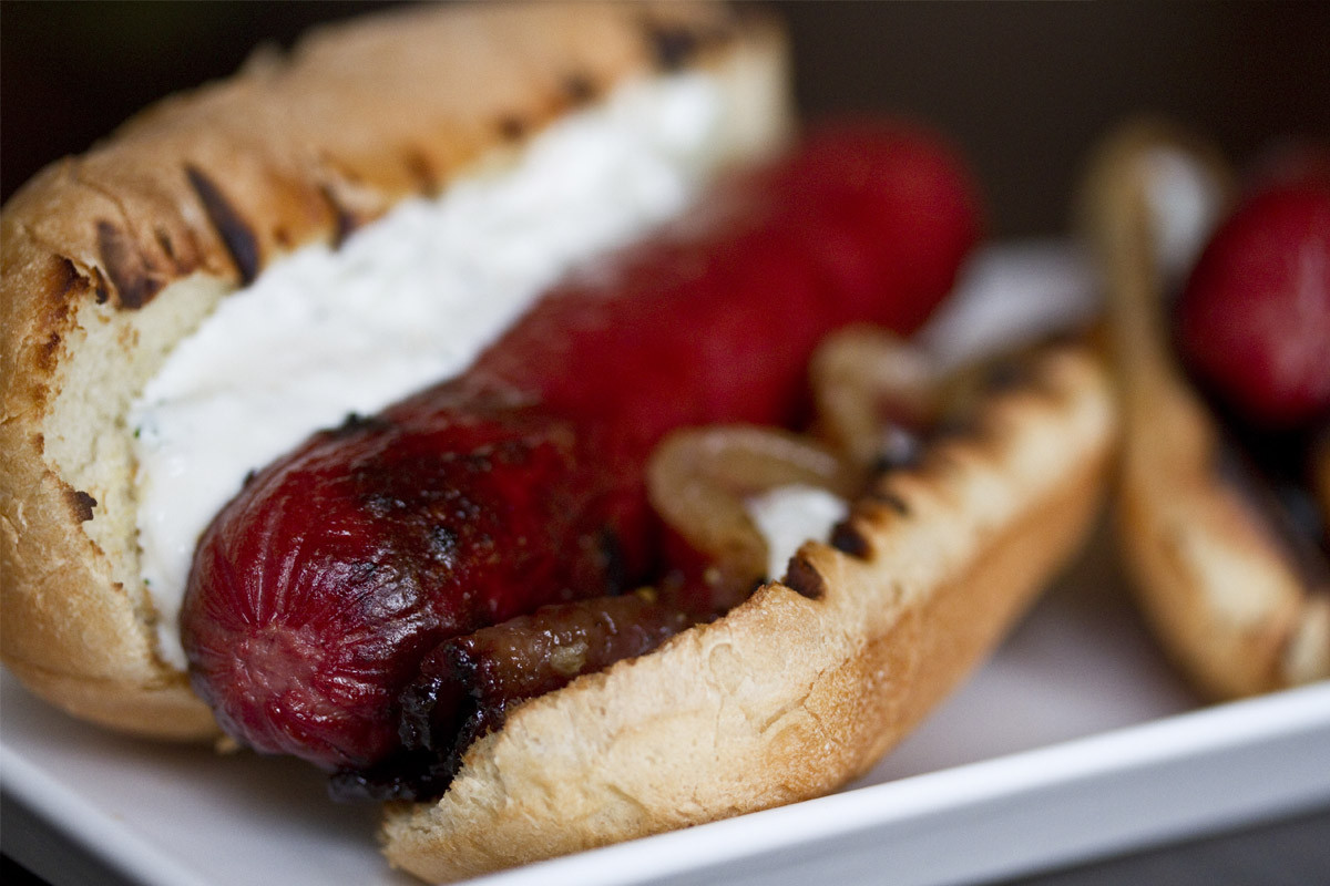 Beef Hot Dogs  Bacon Kobe Beef Hot Dogs Marx Foods Blog