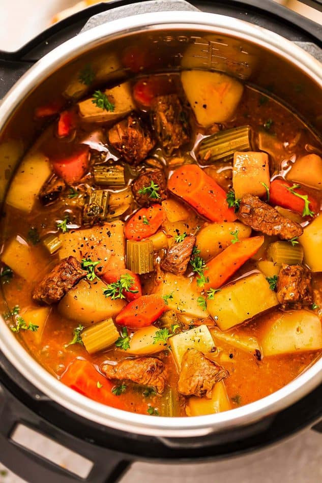 Beef Stew Instant Pot Recipe  Instant Pot Beef Stew e Pot Pressure Cooker VIDEO