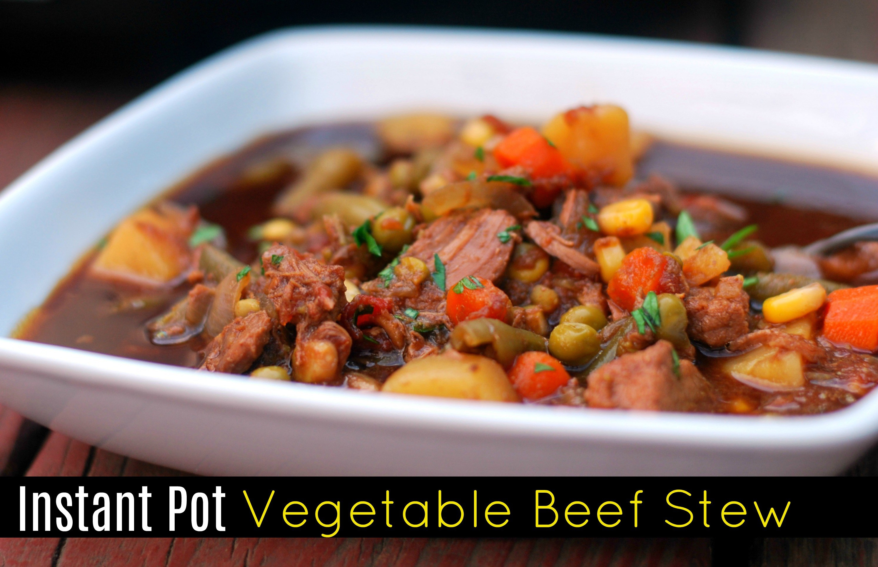 Beef Stew Instant Pot Recipe  Instant Pot Ve able Beef Stew Aunt Bee s Recipes