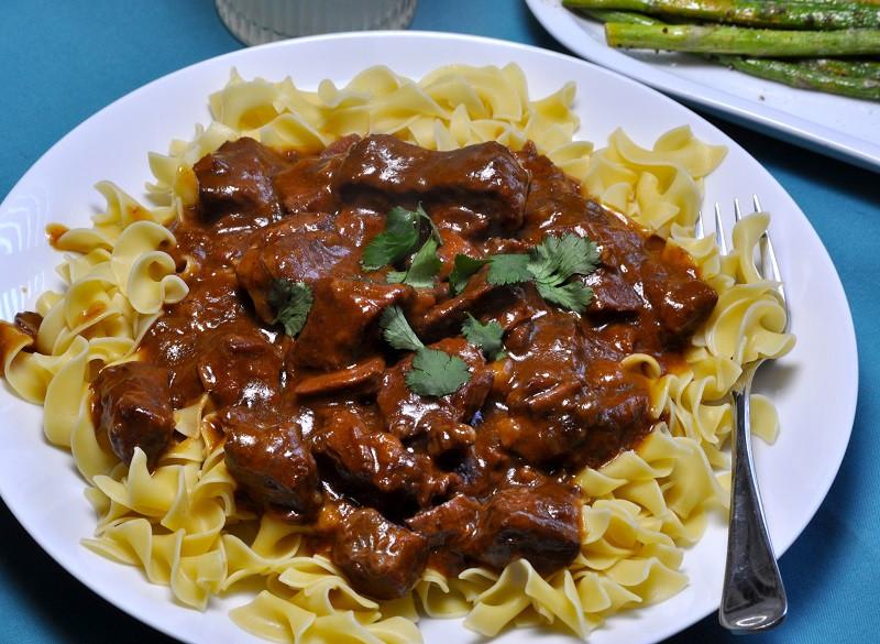 Beef Stroganoff Crockpot  Beef Stroganoff Crockpot Recipe with Golden Mushroom Soup