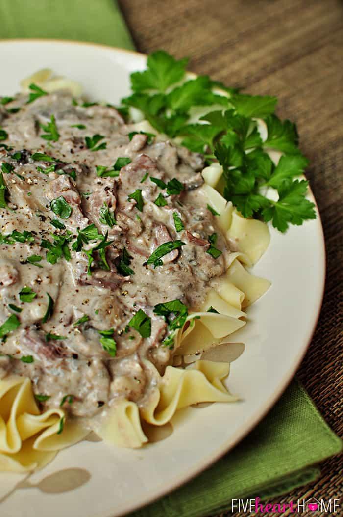Beef Stroganoff Crockpot  Slow Cooker Beef Stroganoff No 'Cream of X' Soup
