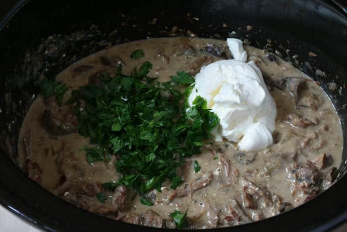 Beef Stroganoff With Cream Cheese  beef stroganoff with sour cream and cream cheese