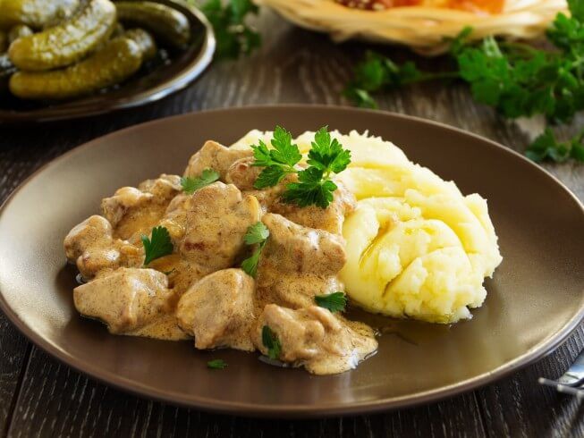 Beef Stroganoff With Cream Cheese  Page 1 Recipes for Crock Pot Beef CDKitchen