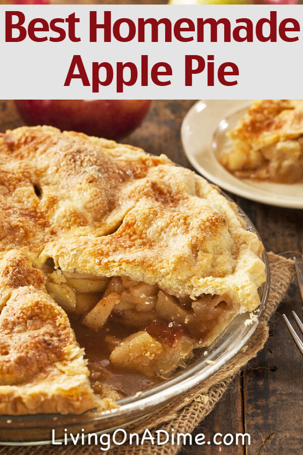 Best Apple Pie  The Best Homemade Apple Pie Recipe Grandma s Delicious