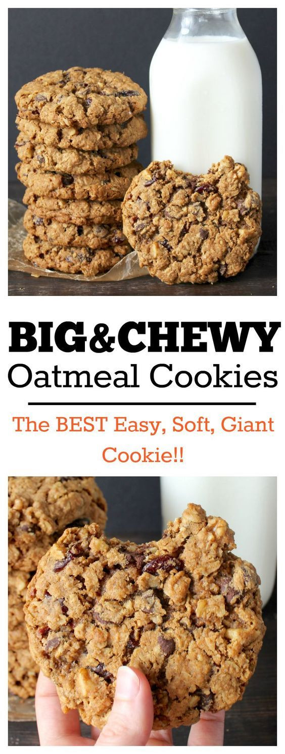 Best Chewy Oatmeal Cookies  Big and Chewy Oatmeal Cookies Recipe