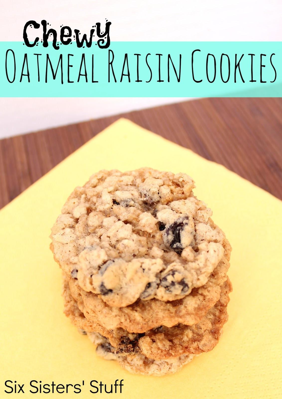 Best Chewy Oatmeal Cookies  Chewy Oatmeal Raisin Cookies Recipe