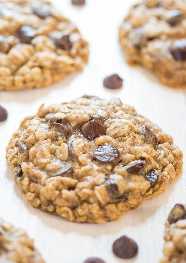 Best Chewy Oatmeal Cookies  The Best Oatmeal Chocolate Chip Cookies Averie Cooks