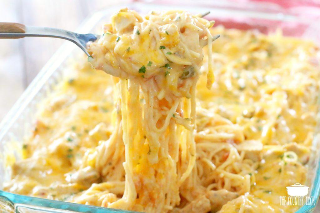 Best Chicken Spaghetti Recipe  Creamy Cheesy Chicken Spaghetti The Country Cook main