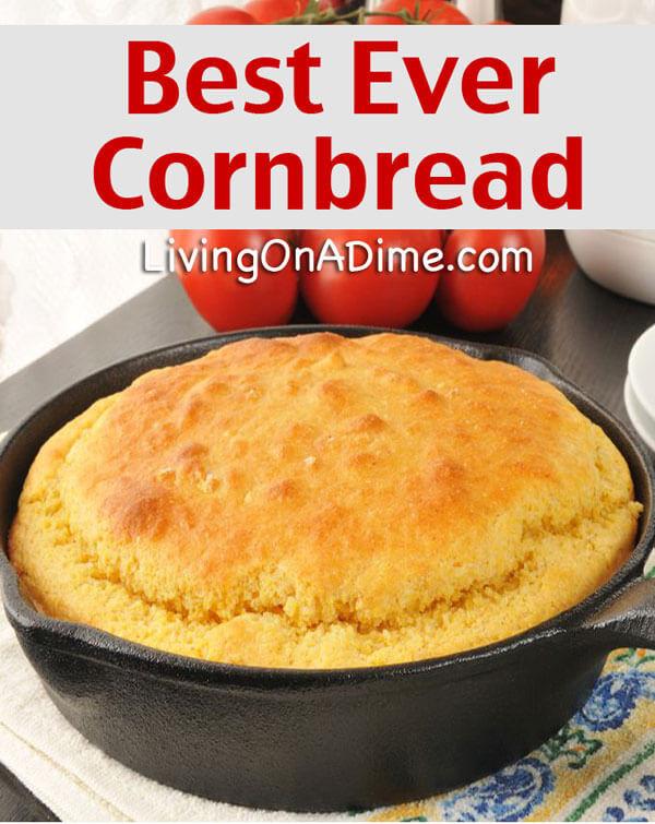 Best Cornbread Recipe  Best Ever Easy Cornbread Recipe Delicious Cornbread