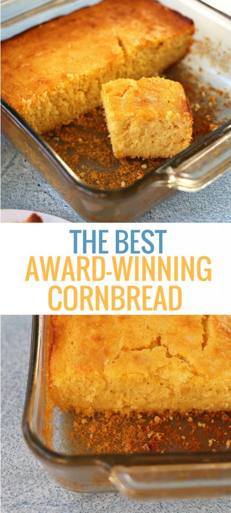 Best Cornbread Recipe  Winning Cornbread Recipe Best Sweet Cornbread Ever