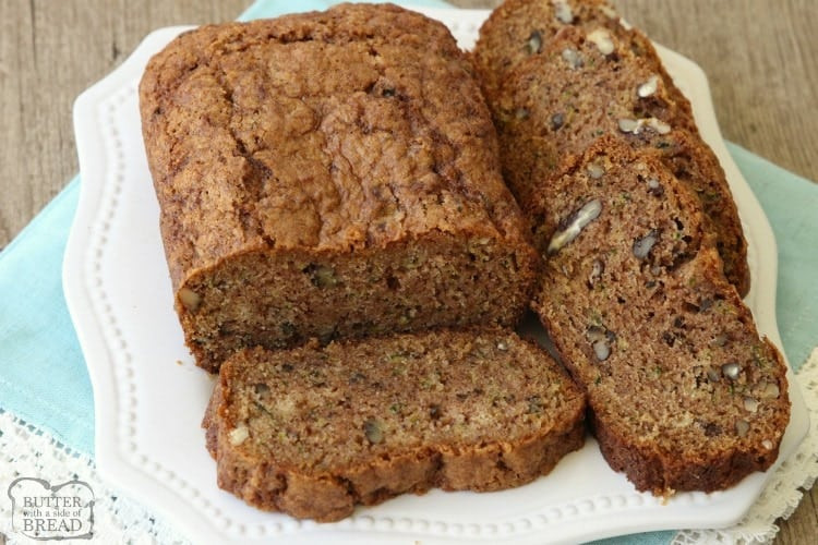 Best Ever Zucchini Bread  BEST EVER ZUCCHINI BREAD Butter with a Side of Bread