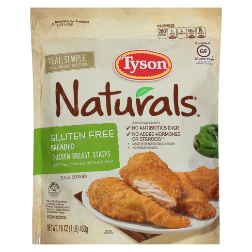 Best Frozen Chicken Tenders  Tyson Gluten Free Breaded Chicken Strips 14 oz Tar