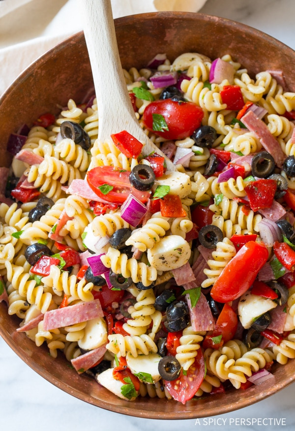 Best Italian Pasta Recipes  The Best Italian Pasta Salad Recipe A Spicy Perspective