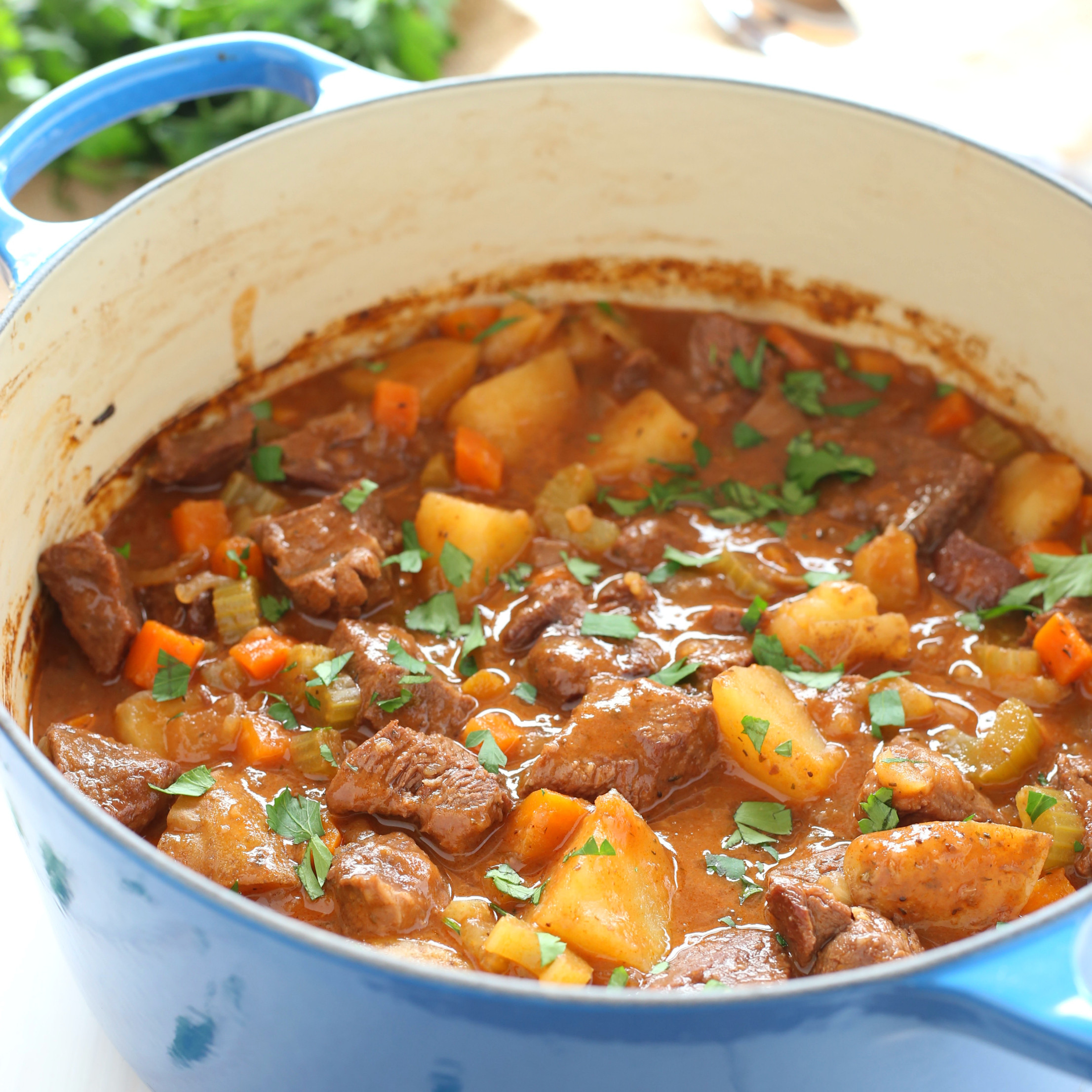 Best Meat For Beef Stew  Best Ever e Pot Beef Stew The Busy Baker