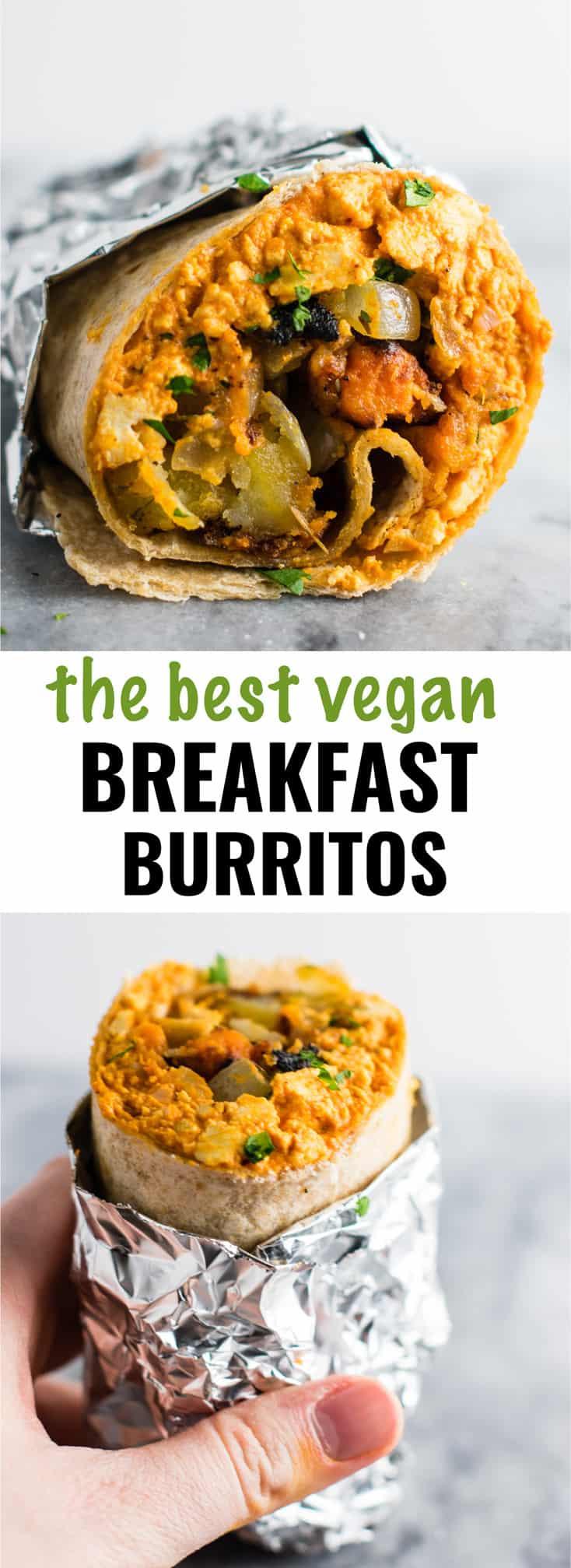 Best Vegan Breakfast Recipes  Vegan Breakfast Burrito Recipe with scrambled tofu and