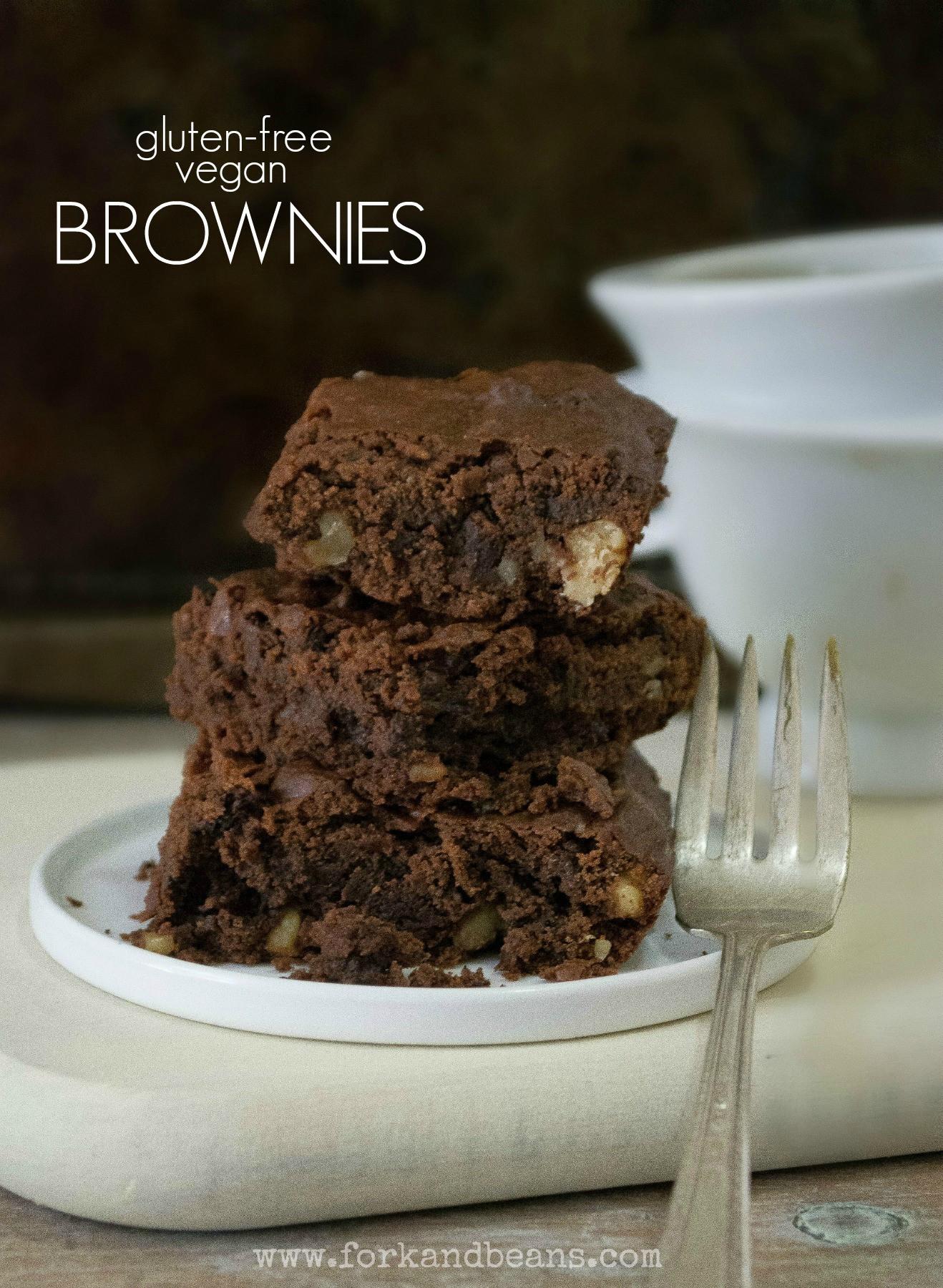 Best Vegan Brownies  The Best Gluten Free & Vegan Brownies Fork and Beans