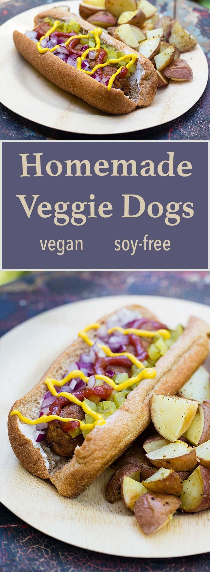 Best Vegan Hot Dogs  vegan hot dog ingre nts
