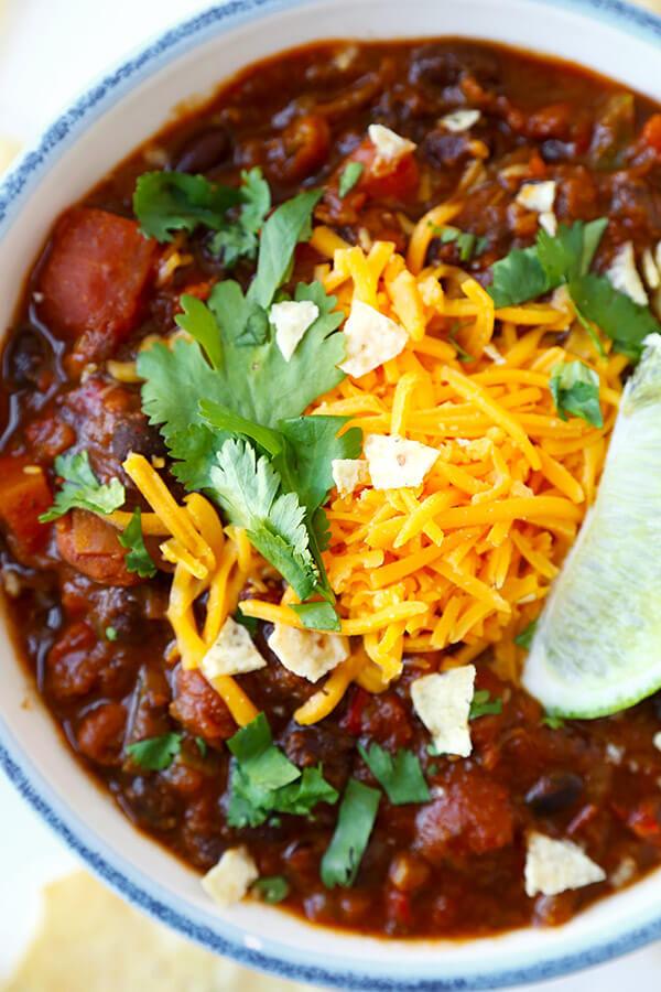 Best Vegetarian Chili  Ve arian Chili Recipe My Favorite Pickled Plum Food