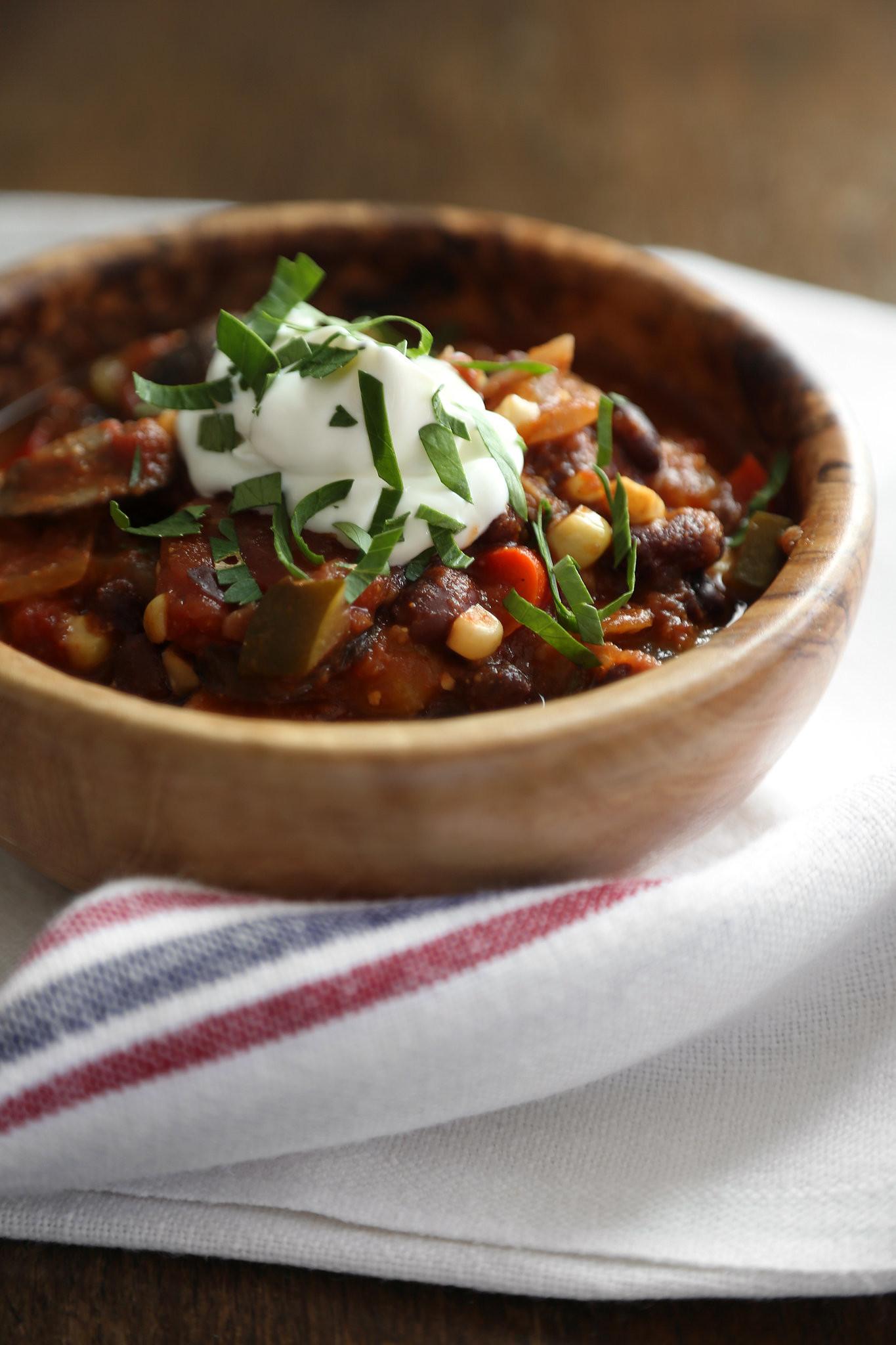 Best Vegetarian Chili  Best Ve arian Chili Recipe