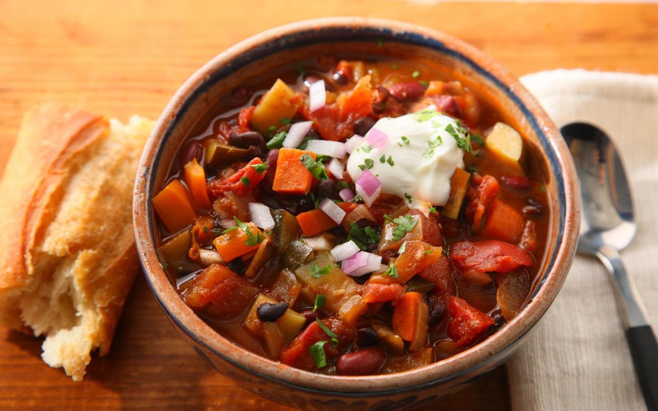 Best Vegetarian Chili  Basic Ve arian Chili Recipe Chowhound