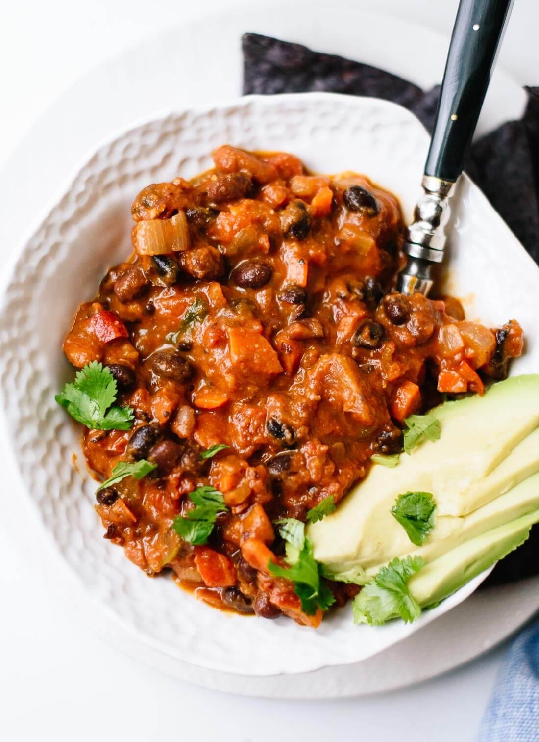 Best Vegetarian Chili  Homemade Ve arian Chili Cookie and Kate