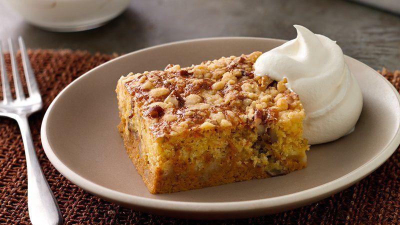 Betty Crocker Pumpkin Pie  Easy Pumpkin Pie Cake recipe from Betty Crocker