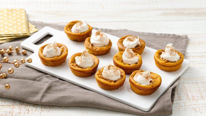 Betty Crocker Pumpkin Pie  Impossibly Easy Mini Pumpkin Pies recipe from Betty Crocker