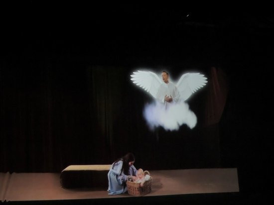 Biblical Times Dinner Theater  Angel was a Hologram Picture of Biblical Times Dinner