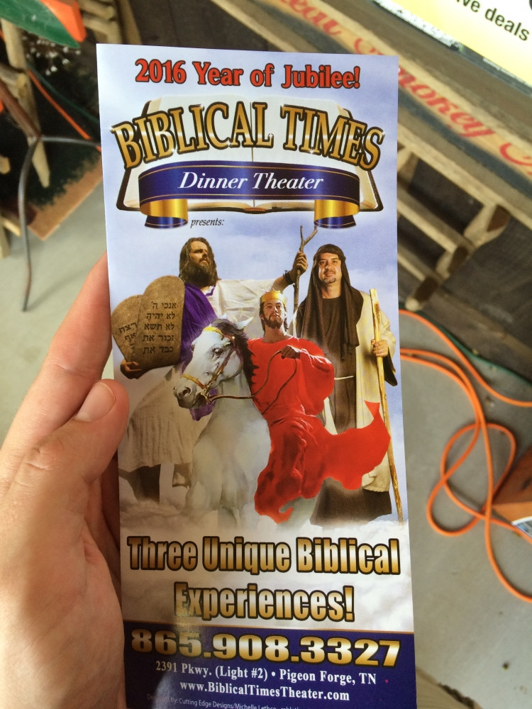 Biblical Times Dinner Theater  Theme Park Review • TR NC to NYC Park Extravaganza