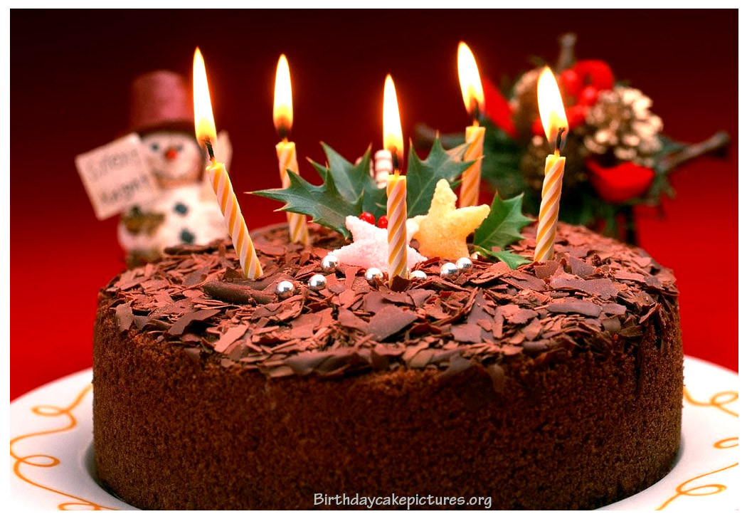 Birthday Cake Candles  Chocolate Birthday Cake With Candles