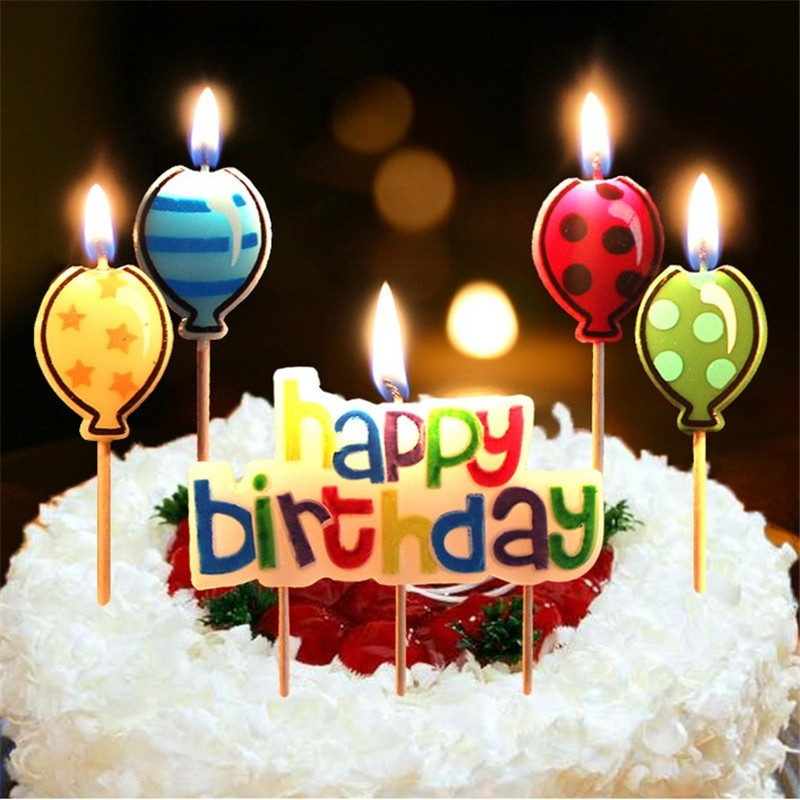 Birthday Cake Candles  Aliexpress Buy 5PCS Happy Birthday Candle Cake