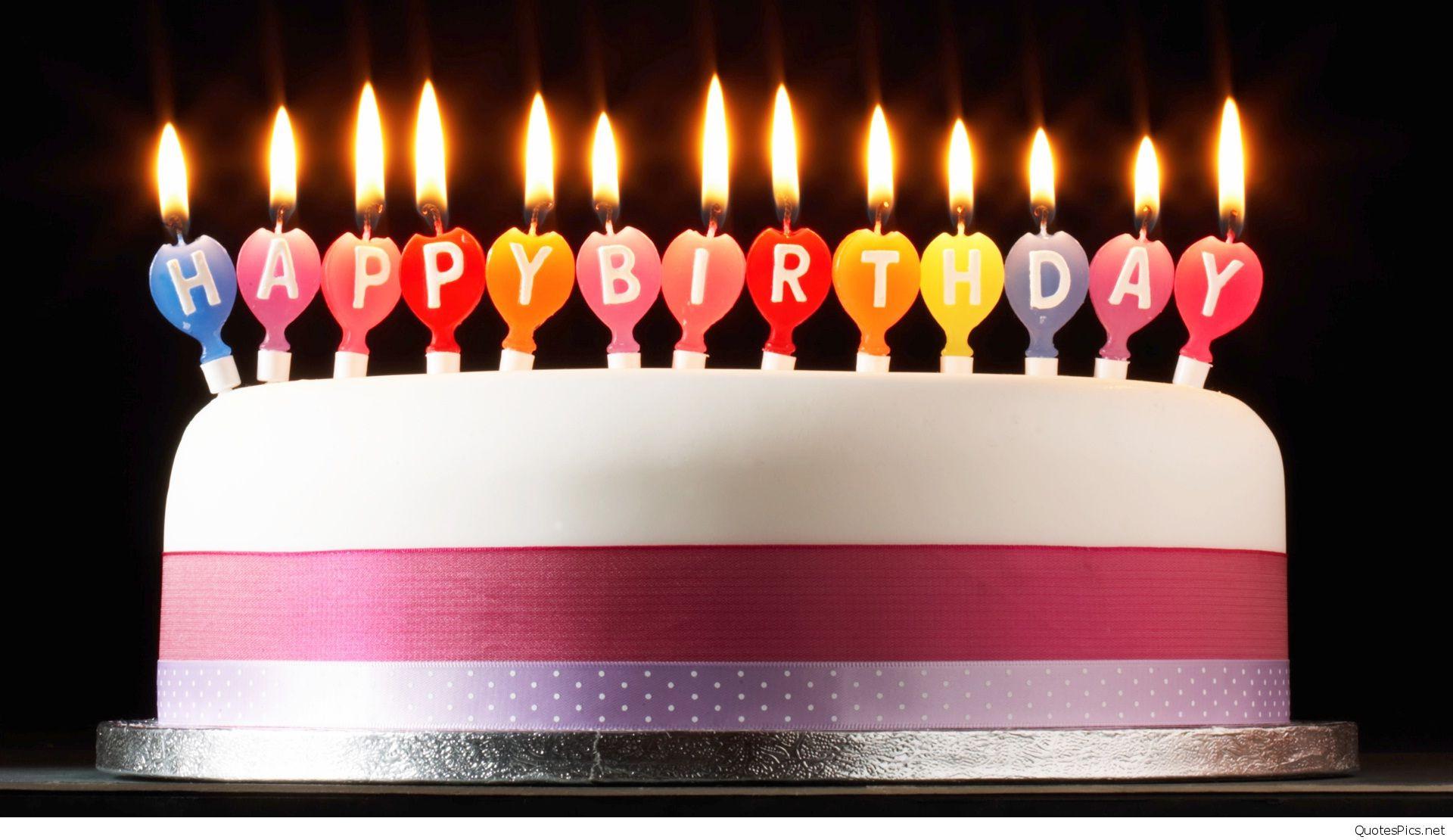 Birthday Cake Candles  Amazing Happy Birthday cake wallpapers hd
