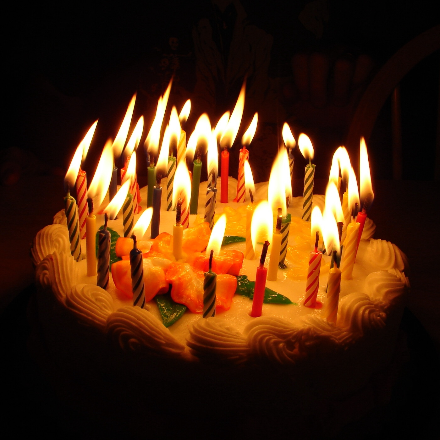 Birthday Cake Candles  Birthday cake with lots of candles photo and pictures