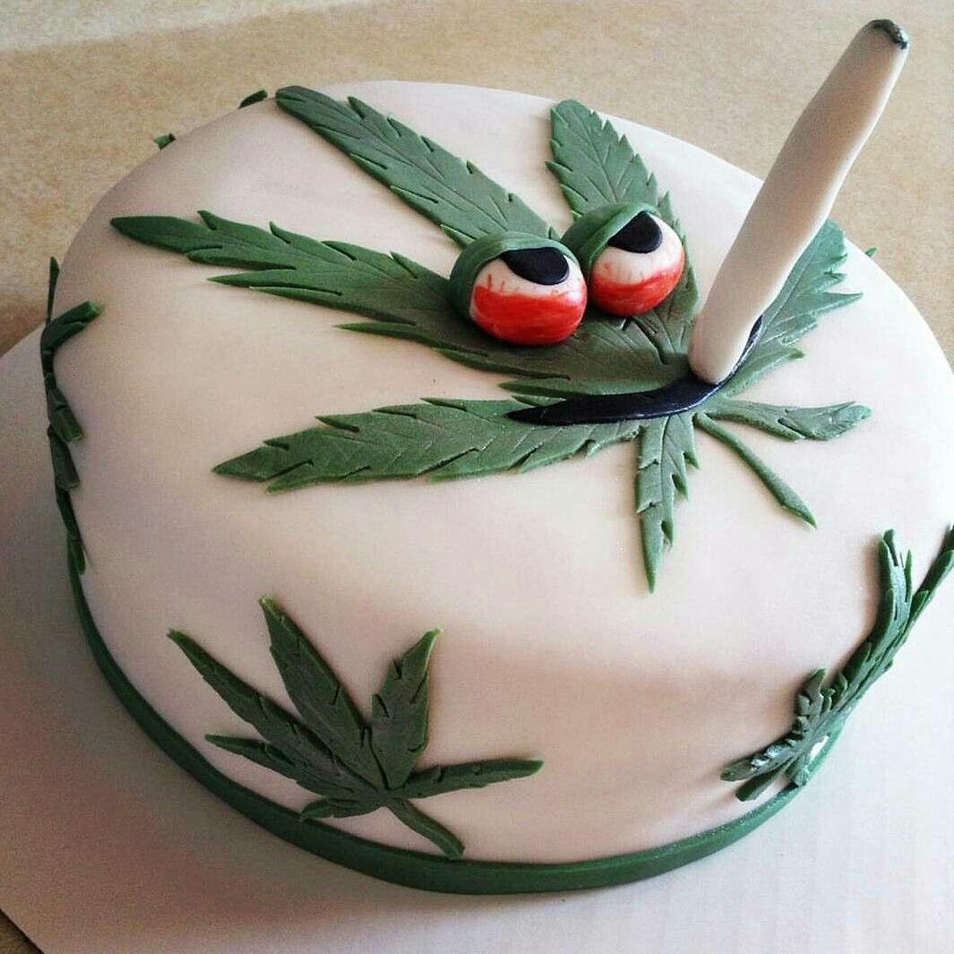 Birthday Cake Weed  Stoner pot leaf weed cake Ganja Goddess