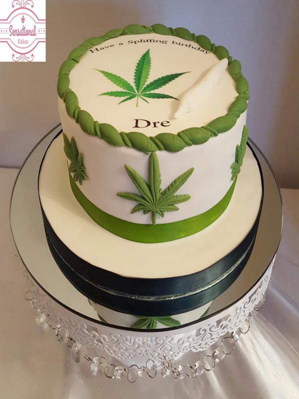 Birthday Cake Weed  cannabis leaf cake Sensational Cakes