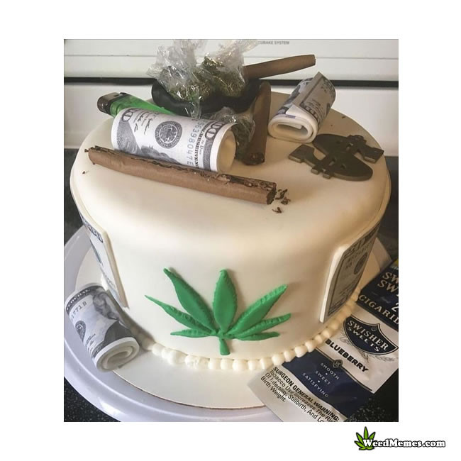 Fabulous 20 Of The Best Ideas For Birthday Cake Weed Best Recipes Ever Funny Birthday Cards Online Overcheapnameinfo