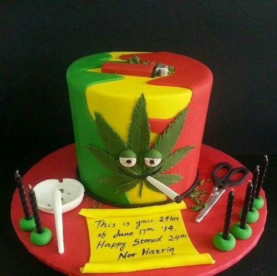 Birthday Cake Weed  rasta birthday cake Ω Pinterest