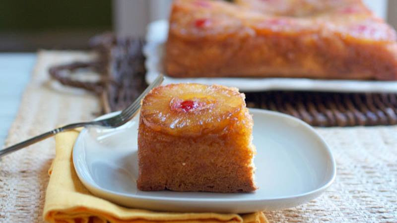 Bisquick Pineapple Upside Down Cake  Boozy Pineapple Upside Down Cake BettyCrocker