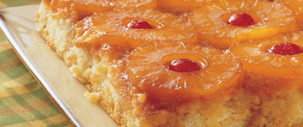 Bisquick Pineapple Upside Down Cake  Pineapple Upside Down Cake recipe from Betty Crocker