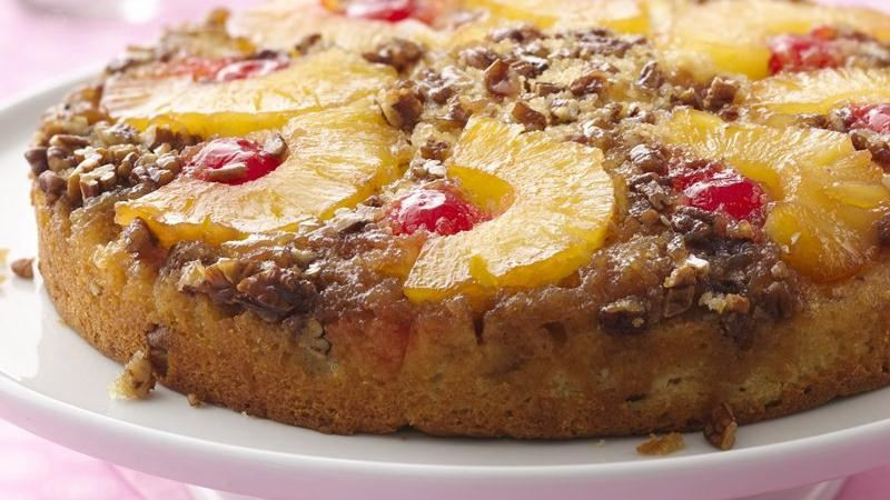 Bisquick Pineapple Upside Down Cake  Quick Pineapple Upside Down Cake recipe from Betty Crocker