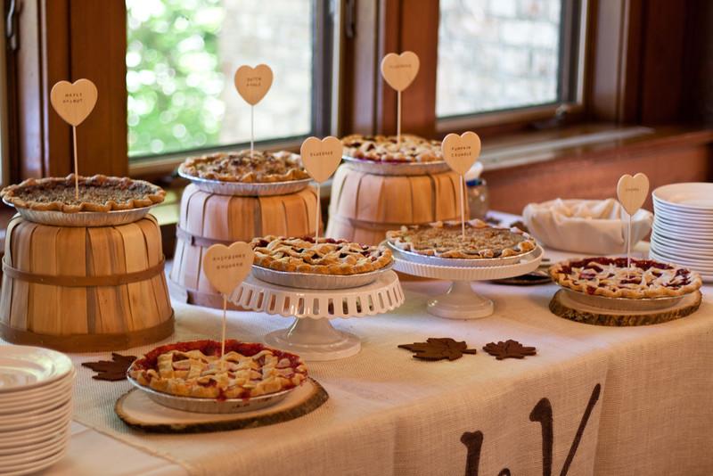 Bistro Dessert Crossword  My Rustic Pie Table My Rustic DIY Post Wedding