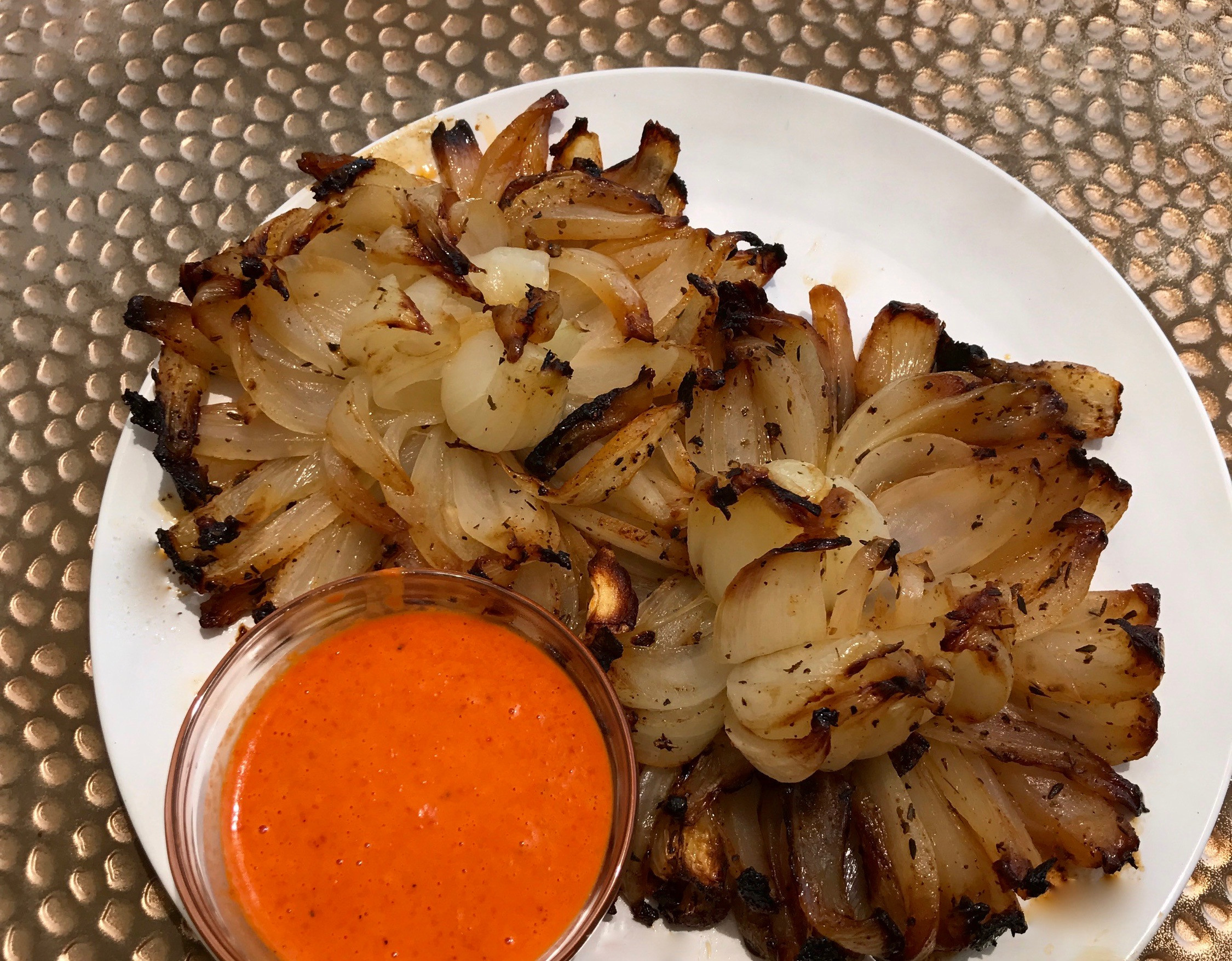 Bloomin Onion Sauce  Grilled Blooming ion with Roasted Red Pepper Aioli Sauce