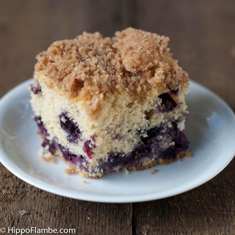 Blueberry Crumb Cake  Hippo Flambé Blueberry Crumb Cake