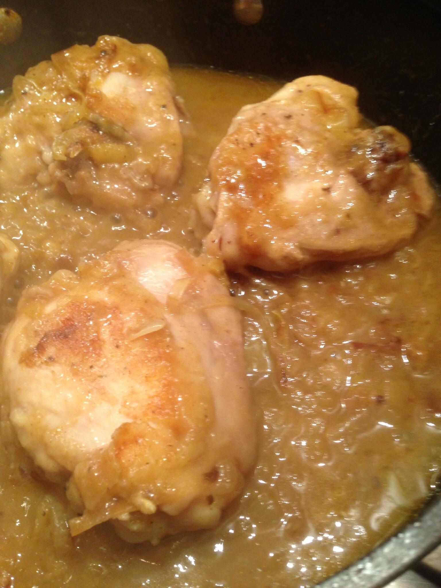 Boiled Chicken Thighs  Curried Chicken