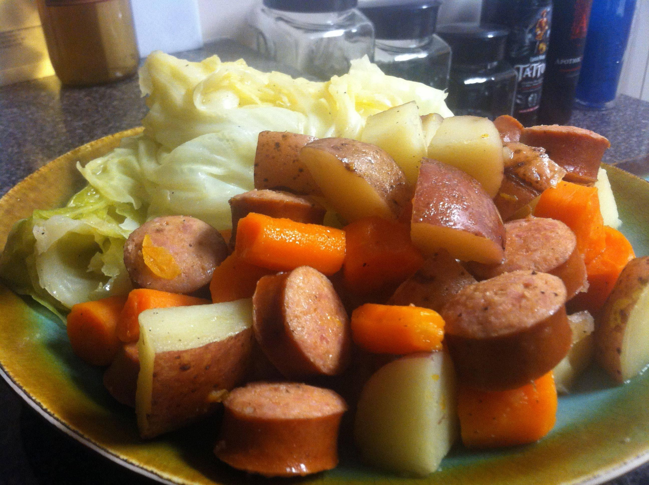 Boiled Dinner Recipe  boiled dinner recipe with kielbasa