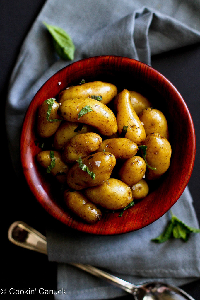 Boiled Potato Recipes  Boiled Potatoes with Olive Oil Basil & Mint Recipe