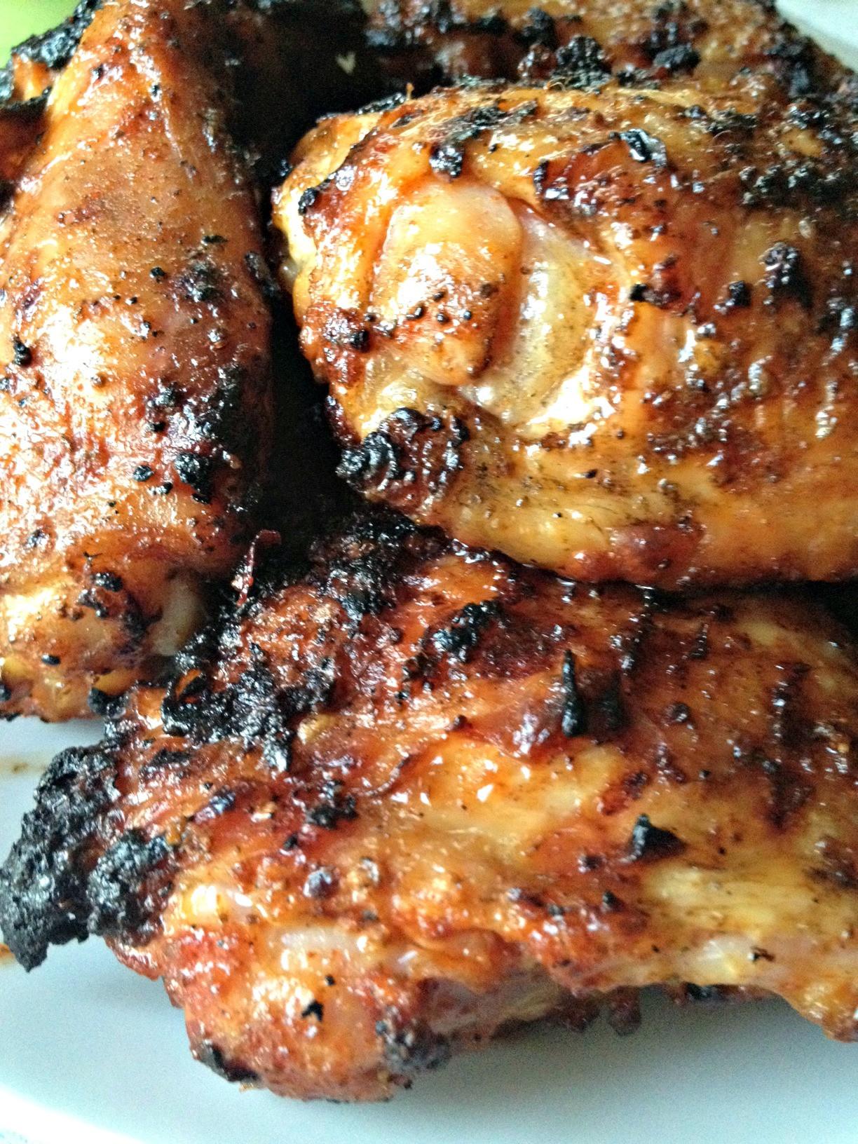 Bone In Chicken Thighs  grilled chicken thighs bone in