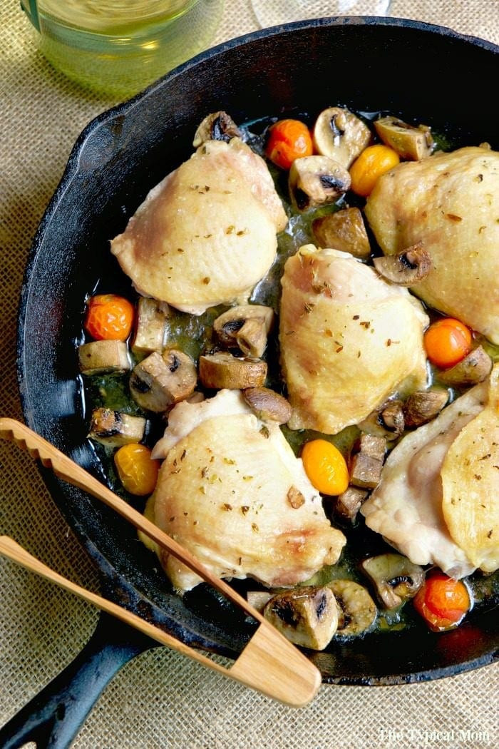 Bone In Chicken Thighs  Baked bone in chicken thighs · The Typical Mom